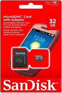 SanDisk 32GB MicroSD Card TF Memory Samsung LG 32 GB Google Android Smartphone