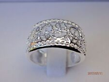 925 Sterling Silver Plated Filigree Ring/Band - sizes M, Q, S (6 ,8, 9) stamped