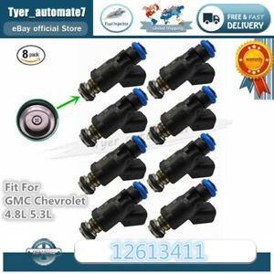 8PCS Brand New GM Original Fuel Injectors For GMC Chevrolet 4.8L 5.3L 12613411