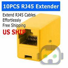 10X RJ45 CAT5 6 LAN Ethernet Splitter Adapter Extender Coupler Jointer Connector