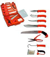 Farm-Land Hunting-Kit Messerset Jagdmessesr Zerwirken Zerwirkhilfe Set im Koffer
