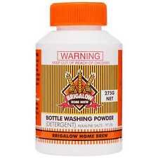 2x Brigalow HOME BREW BOTTLE WASH POWDER Alkaline Salts 97.5% *Australian Brand