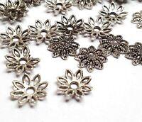 100 Filigrane Perlenkappen 10mm Metall Spacer Zwischenteile für Schmuck M10
