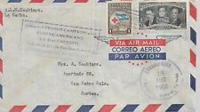 HONDURAS 1950 TYPED COVER WITH TWO STAMPS TO CORTES M Y REF  1853A