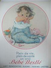 PUBLICITE DE PRESSE NESTLE BéBé PLEIN DE VIE ILLUSTRATION DAWSON AD 1936