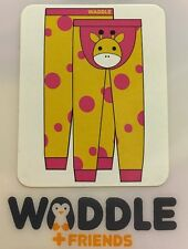Waddle Footless Tights 0-12 Months Infants Toddler Baby Giraffe Pink Yellow