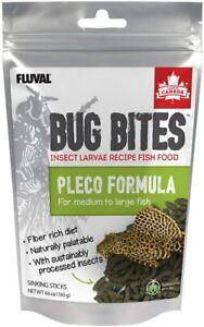 Fluval Bug Bites Pleco formula for medium to large fish - sinking sticks 4.6 OZ