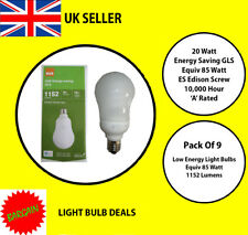 PACK OF 10 X 20 WATT ES LOW ENERGY LIGHT BULB A RATED 10000 HOUR A RATED NEW