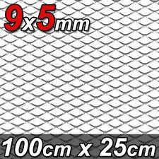 1x ALU GITTER RENNGITTER WABENGITTER RACEGITTER 9x5mm 100x25cm SILBER