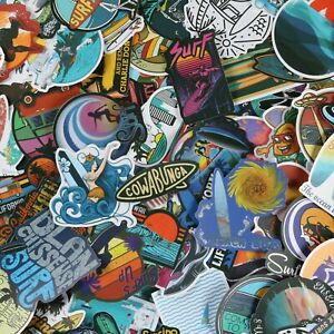 105 pcs SURFING STICKERS, Summer Beach Sea Cool Vinyl Stickers