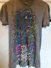 Electric Zombie Grey T-shirt Small Emo Punk