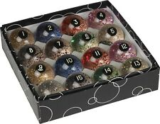 Action Glitter Pool Balls Set Billiards Ball Complete Sets w/ FREE Shipping