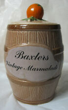 Vintage Baxter's Marmalade Barrel Pot With Lid - Govancraft, Glasgow - 1960's?