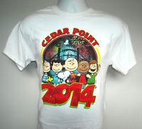 Mens Cedar Point 2014 T shirt medium Snoopy Charlie Brown Peppermint Patty Lucy