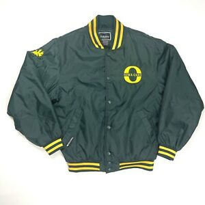 Vintage 1980's Holloway Iowa Oaks Minor League Nylon Bomber Snap Jacket Rare