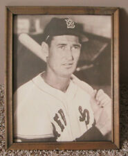 VINTAGE TED WILLIAMS FRAMED EXHIBIT PHOTO BOSTON RED SOX TEDDY BALLGAME