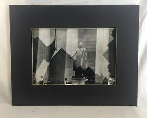 Orig. 1980 signed George Forss G. Washington on Wall St. Silver Gel Photograph