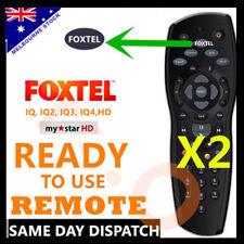TWO FOXTEL REMOTE Control Replacement For FOXTEL MYSTAR HD & PAYTVS BLACK FOXTEL
