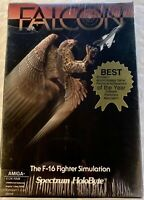 Vintage 1987 Amiga Falcon F-16 Fighter Jet Simulation by Spectrum Holobyte New