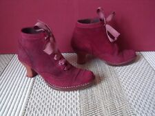 BOTTINES BOOTS NEOSENS S754 ROCOCO BAROQUE CUIR FRAMBOISE POINTURE 37