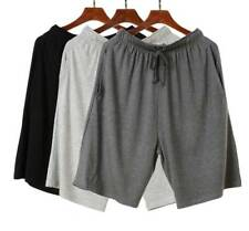 Modal Men's Bamboo Fiber Shorts Sports Pants Boxers Loungewear Night Underwear Blue Asian Size 4xl