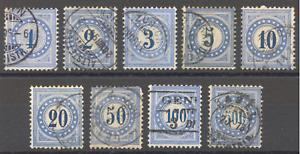 Schweiz 1878, Flugpost, Portomarken, Rahmentyp 1,