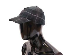 NWT $220 DOLCE & GABBANA Multicolor Wool Logo Baseball Cap Hat Cappuccio s. 57/S