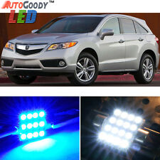 12 x Premium Blue LED Lights Interior Package Kit for Acura RDX 2013-2014 + Tool