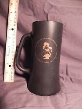 The Playboy Club Tall Black Glass16 ounce Mugs w/ Femlin Cool Mug Vintage