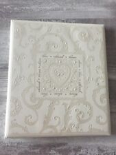 NEW Hallmark Scroll Wedding Memory & Photo Album
