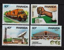 Transportation Communication mnh 4 stamps 1986 Rwanda #1243-6 Airport Truck