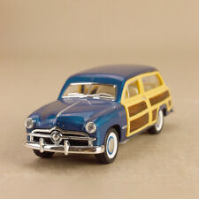 1949 Ford Woody Wagon Vintage Blue Car 1:40 Scale 12cm Die-Cast Pull-Back OLP