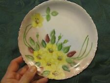 Vintage Hand Painted Rcl Versailles Bavaria Plate yellow floral Nat
