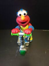 """Sesame Street Elmo 8"""" Scooter Press and Go Action Toy Mattel 2000"""
