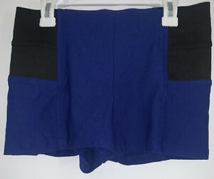 Love Culture Junior/ Women's Blue Hot Shorts With Elastic Hip Sides Sz Large