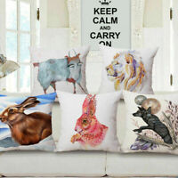 Watercolor Animal Patter Print Decorative Throw Pillowcase Pillow Cover Cushion