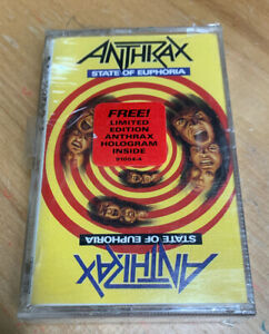 STATE OF EUPHORIA BY ANTHRAX (CASSETTE) NEW!!! NOS!!!