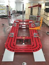 20 FEET AUTO BODY SHOP FRAME MACHINE 3 TOWERS FREE CLAMPS & CART PUSHER AIR JACK