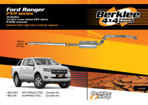 Ford Ranger PX11 3.2L TD DPF Back High Flow Exhaust Stainless Steel