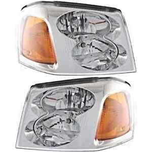 Fits 02-09 GM Envoy; 04-05 Envoy XUV; 02-06 Envoy XL Left & Right Headlamp Pair