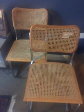 4 Used Marcel Breuer Cesca Style Chairs