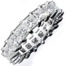 Diamond Eternity Ring 6.40 Carat Platinum Princess Cut DIA Certified
