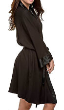 PJ Harlow Shala Knit Robe With Pockets And Satin Trim