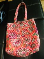 Vera Bradley Call Me Coral Toggle Tote Bag 2010-2011