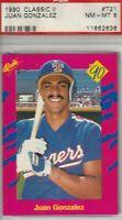 Juan Gonzalez 1990 Classic II Rookie Card #T21 NM-MINT 8 Texas Rangers