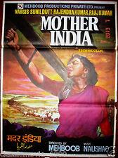 MOTHER INDIA  (1957) ORIGINAL ART POSTER # 4 BOLLYWOOD 29X 39 NARGIS SUNIL DUTT