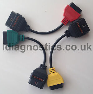 Fiat Alfa Lancia CAN Airbag ABS Steering cable 3Adapter Diagnostics MULTIECUSCAN