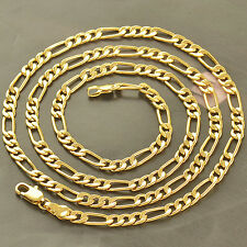 Statement vintage jewelry Yellow gold filled lucky mens mystic chain necklace