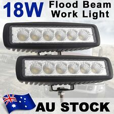 "2X 6"" 18W Flood Led OffRoad work Light Bar 4WD boat ATV Jeep truck lamp AU Stock"