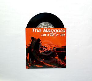 "Maggots 7"" 45 Vinyl Record Swedish Trash Garage Punk Gearhead Records  Ltd Ed"